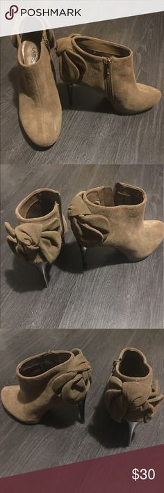 Carlos Santana bootie heels, light brown. US7.5M Light brown heels. Carlos Santana Shoes Ankle Boots & Booties