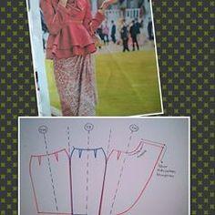 Dress Sewing Patterns, Blouse Patterns, Clothing Patterns, Fashion Sewing, Diy Fashion, Model Rok, Pola Rok, Dart Shirts, Gown Pattern
