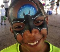 Batman Face Paint Design