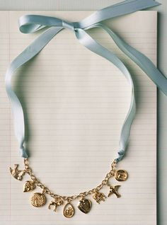 (easy) DIY: Make a necklace out of an old charm bracelet! Cute!