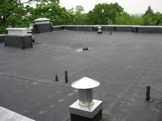 Commercial rubber roof www.nillcontracting.com