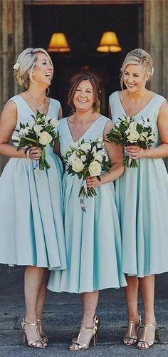 Tiffany Blue V neck Short Bridesmaid Dresses Online, Cheap Bridesmaids Dresses, WG735 Blue Bridesmaid Dresses Short, Beautiful Bridesmaid Dresses, Cheap Homecoming Dresses, Bridesmaid Dresses Online, Wedding Dresses, Bridesmaids, Wedding Bouquets, Beautiful Dresses, Wedding Centerpieces