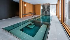 Indoor Swimming Pool Ideas For Your Home [Amazing Pictures] Indoor Swimming Pools, Swimming Pool Designs, Lap Pools, Backyard Pools, Pool Decks, Pool Landscaping, Pool Spa, Spa Design, House Design