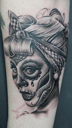 ~Sugar Skull Girl~ Rosie the riveter sugar skull??? Perhaps.