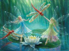 Dance of the Red Dragonflies | Lynne Bellchamber BA (Hons) Fine Art