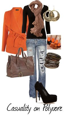 """""""'Casual Tangerine'"""" by casuality on Polyvore"""