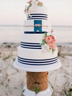 Nautical Wedding: 10 ways to Rock Your Nautical Wedding - KnotsVilla Photo by Faith Teasley Photography