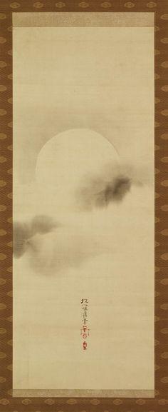 Triptych of the Three Seasons:Autumnal Moon,Sakai Hoitu酒井抱一,19th century,Japan