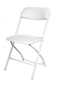 Economy Plastic Folding Chair White