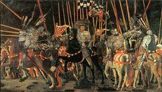 Il contrattacco di Michele Attendolo da Cotignola a fianco dei fiorentini nella battaglia di San Romano (1455 ca.), Paolo Uccello