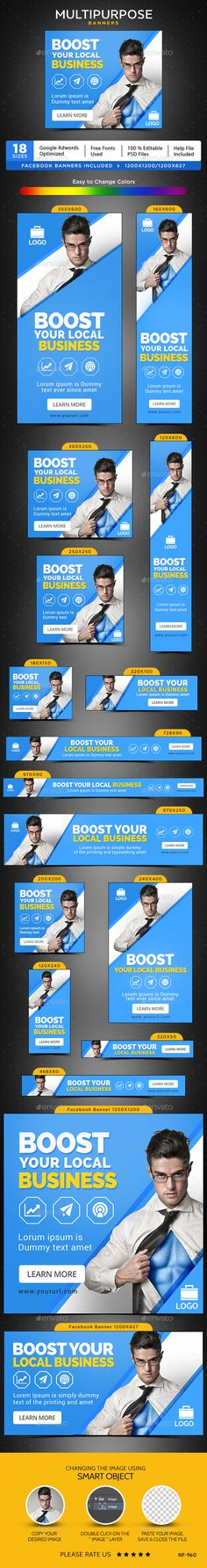 Multipurpose Web Banners Template PSD #ad #promotion #design Download: http://graphicriver.net/item/multipurpose-banners/14276102?ref=ksioks