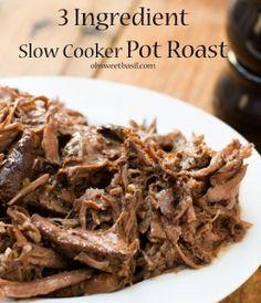3-Ingredient Slow Cooker Pot Roast | AllFreeSlowCookerRecipes.com