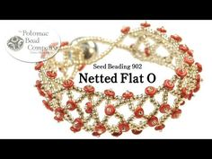 Make a Netted Flat O Bracelet. This video tutorial from The Potomac Bead Company teaches you how to make a netted bracelet using O beads laid flat at each intersection, with a 150 Miyuki seed bead above and below it. 110 ssed beads are used to create the Diy Jewelry Videos, Jewelry Making Tutorials, Beading Tutorials, Jewelry Crafts, Handmade Jewelry, Free Tutorials, O Beads, Beads And Wire, Seed Beads