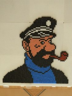 Capitaine Haddock hama perler -Les Créations de Benjix                                                                                                                                                                                 Plus