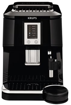 KRUPS EA8442 Falcon Fully Automatic Espresso and Cappuccino Machine with Latte Tray and Built-in Conical Burr Grinder, 58-Ounce, Black * More info could be found at the image url.