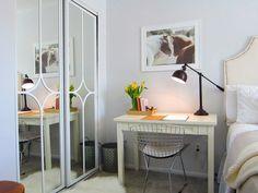 Sliding Mirror Closet Doors Makeover mirrored closet door makeover | closet door makeover, mirrored