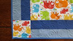 Baby cover - detail quilting