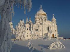 Belogorsk monastery in Perm, Russia. 02.01.2013