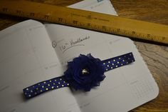 Royal blue fit for a princess headband by LooksWellSaid on Etsy https://www.etsy.com/listing/253747158/royal-blue-band-and-flower-with-gold