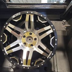 NASCAR Wheels getting machined! All done in house in AMERICA! http://ift.tt/1oQcprb