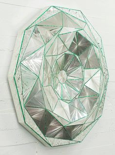 ufansius:  Decagon - Monir Shahroudy Farmanfarmaian Mirror Mosaic, Mosaic Glass, Glass Art, Mirror Artwork, Iranian Art, New York Art, Lowbrow Art, Wall Sculptures, Female Art