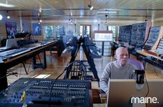 Vince Clarke's cabin in Maine chock full of synthesizers! I could live here with all these toys for sure!
