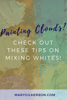 """How do I mix whites for clouds?""It's such a great question and one that all of us think we know the answer to right away cause clouds are white, right. Acrylic Painting Techniques, Art Techniques, Painting Clouds, Painting & Drawing, Drawing Tips, Matte Painting, Was Ist Pinterest, Art Studies, Master Studies"