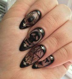 Spider & skull nails