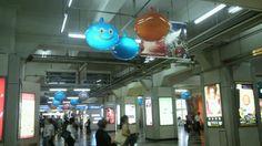 8/5(日)まで渋谷駅玉川改札付近スライム達が出現! #DQ10 | A!@attrip