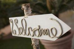 Nautical / Sea themed wedding sign