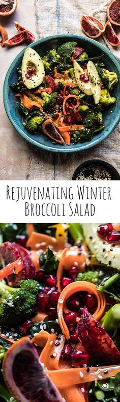 "Recipe: Rejuvenating Winter Broccoli Salad - Eat your ""colors"" and stay healthy all winter long!  Credit: Half Baked Harvest #Winterfest #HallmarkChannel"