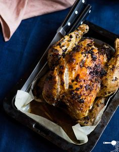 Lemongrass Roasted Chicken that's juicy, tender and beautifully fragrant with South East Asian flavours of lemongrass, chilli and lime