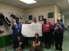 Participants from Career Support Systems send a THANK YOU to HandsOn Volunteers