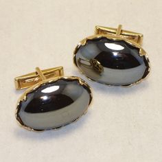 Rare Sarah Coventry Cuff Links Reflections Smokey by SwaggerMan, $24.00