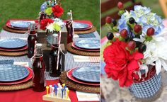 Adorable Fourth of July picnic ideas, including cute free printables