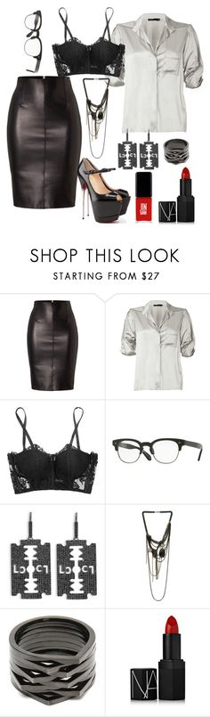 """""""Instagram model outfit"""" by pale-readhead ❤ liked on Polyvore featuring Dsquared2, Donna Karan, La Perla, Oliver Peoples, Lynn Ban, Marquis & Camus, Repossi, NARS Cosmetics, Jin Soon and 60secondstyle"""