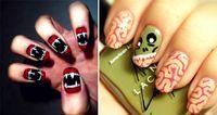 30 Terroríficos diseños de uñas que debes intentar este Halloween