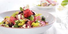 Feta, Watermelon & Haloumi Salad