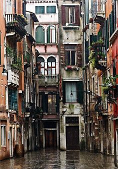 "We wont miss the rainy days    Italy – Venice ""Calle dei Botteri"" by Fabrizio Fenoglio"