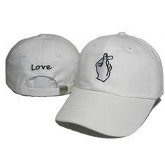 SWTN New Design Love Cotton Snapback Caps Gestures Finger Embroidered Baseball Cap Flipper Little Heart Love Hat Gorras