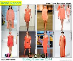 Coral Color Fashion #Trend for Spring Summer 2014 at New York #Fashion Week #NYFW #Spring2014 #Colors #Trends #coral #color