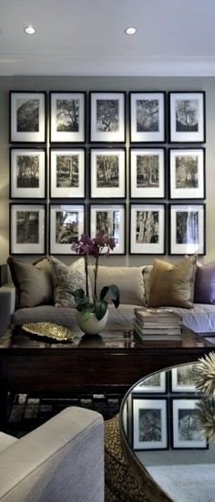 There are many different types of gallery walls. Some are symmetrical and structured with matching frames, and assuming you have the wall space. ------------ #gallery #wall #picture #frames #tips #diy