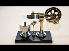 Stirling Engine build from scratch.  Wonderful time lapse of entire construction.