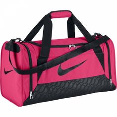 Nike Ladies Brasilia 6 Duffle BAG Womens Team Training Sports Holdall Pink GYM | eBay