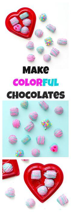 Make Colorful Chocol