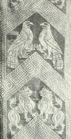 German silk textile-13th century.