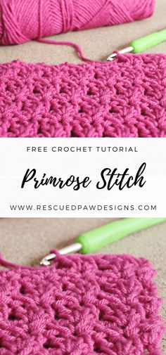 Crochet Primrose Stitch Tutorial - Free Blanket Pattern by Rescued Paw Designs