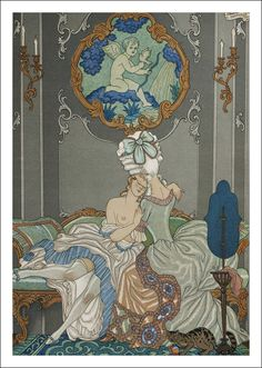 Choderlos de Laclos. Les liaisons dangereuses. Illustrations en couleurs de George Barbier. Paris: le Vasseur éditeurs, 1934.