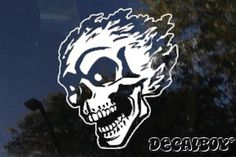 Ford Racing Window Decal | Flames Die-cut Decals, Flames Stickers | Decalboy