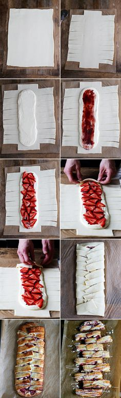 Gluten Free Strawberry Danish Braid, Step by Step